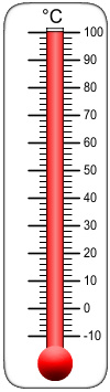 100 Degrees Thermometer Clip Art