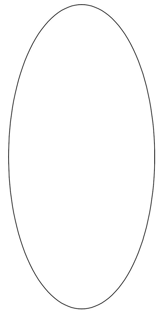 Breathtaking image in printable oval template